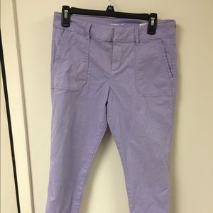 Old navy Pixie lavender chinos, size 6